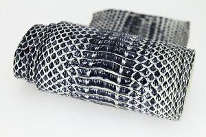 Stonewashed Cobra Snake Skin Snakeskin Leather Hide Craft Supply Black