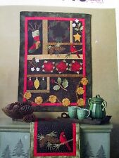 Christmas Sewing pattern Wallhanging Applique Quilt Cheryl Haynes table runner