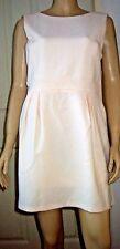 LITTLE MISTRESS Sleeveless V Back Lined Ivory Pink Party Dress Size 16 BNWT