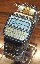 Rare Vintage Working Pulsar (Y739-5019A) 2 Tone LCD Calculator Alarm Watch *READ
