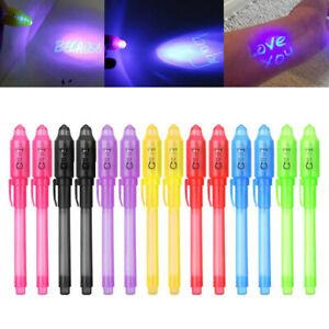 2/4/8/14x geheimstift UV Stift Unsichtbare Magie Bleistift Fluoreszierende Stift
