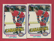 2 X 1981-82 TOPPS # 13 CANADIENS BOB GAINEY  NRMT+ CARD