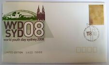 2008 WORLD YOUTH DAY LIMITED EDITION SILVER STAMP  FIRST DAY COVER