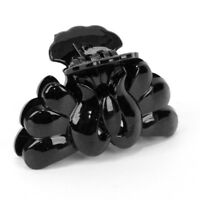 Lady Women Hair Accessory Claw Clip Clamp Grip Black Plastic 80mm X 45mm Gift