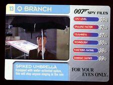 Spiked Umbrella #13 Q Branch - 007 James Bond Spy Files Card