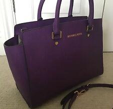 Michael Kors Large Selma Bag, Violet Saffiano Leather, SUPERB CONDITION