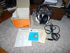 Vintage Toshiba 50X Stereo Headphones in Original box with Manual
