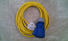 CARAVAN / MOTORHOME 5M ELECTRIC HOOK UP CONVERTER 13A to 16A YELLOW ARCTIC CABLE
