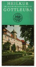 1963 GOTTLEUBA 50 Jahre Kliniksanatorium Faltblatt Sachsen *7724