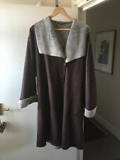 "PLATINUM SUEDE BROWN COAT SIZE XL  BUST 46""  X 44"" LENGTH FUR LINED"
