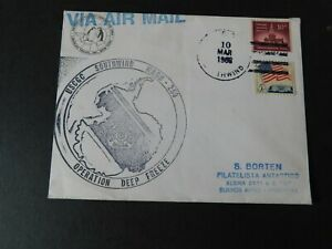 "USA -ANTARCTICA  1968 "" USCGC Southwind Cover & Cachet to Buenos Aires """
