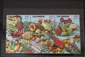 Kolumbien Colombia Nr. 1509-1514 postfrisch ** MNH Früchte, selten! #ZE992