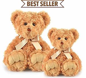 ~❤️~MAX Brown Teddy Bear medium 35cm and large 48cms soft Toy by Korimco NWT❤️~