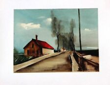 Maurice de Vlaminck Lithograph Limited The Brezolles Road Mourlot 1958 Rare