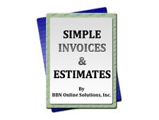 Simple Invoices & Estimates PC Program Software Technician Mechanic Car Auto A+