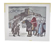 "L/E Norwegian Woodcut Print ""King at Tonsberg"" Hans Gerhard Sorensen"