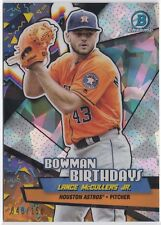 2018 Bowman Chrome Lance Mccullers JR Bowman Birthdays Atomic  /150 Astros