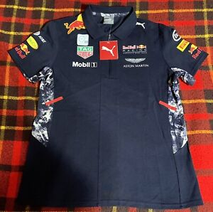 Puma X Red Bull Racing F1 2020 Women's Team Polo Navy Size Large NEW C8