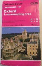 1989 Ordnance Survey Landranger Map Of Oxford And Surrounding Area - Sheet 164