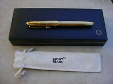 MONTBLANC Fountain Pen 144 Barley in 925 SILVER, 18K Gold Plating. With Box.