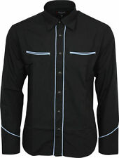 Polyester Long Sleeve Western Casual Shirts for Men