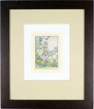 """Framed Antique Print """"The Chicory Fairy"""", Original Vintage Cicely Mary Barker"""