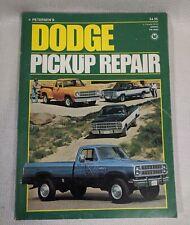 Vintage Petersen's Dodge Pickup Truck prior to 1979 Repair Manual PN 5043