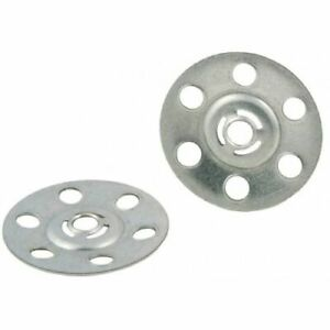 35mm Metal Insulation Discs Washers Wall and Ceiling Fixings Plasterboard Repair