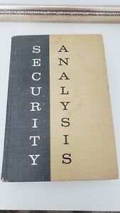 Security Analysis: Principles and Technique. By Graham, Dodd, Cottle. 1962