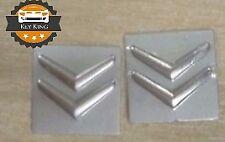 2 x 15mm Citroen C2 C3 Picasso key badge emblem logo sticker 2 3 button fob case