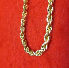 "WHOLESALE LOT OF 15pcs OF  8"" 14KT GOLD EP 3MM ROPE FRENCH STYLE CHAIN BRACELETS"