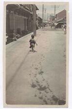 OLD PHOTO COLORED COLORISÉE Japon Japan VERS Vers 1920 1930 Enfant Rehaussée