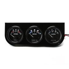 2'' 52mm 3in1 Volt Meter Water Temperature Oil Pressure Gauge Triple Meter Kit