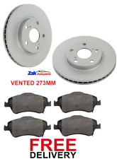 FOR TOYOTA AURIS 1.8 HYBRID MK2 VVTI(2012-2015) 2 FRONT BRAKE DISCS & PADS SET