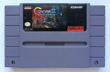 Super Nintendo SNES Contra 3 Contra III: The Alien Wars Authentic Cartridge