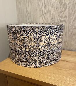 Handmade Lampshade in William Morris Blue Brother Rabbit Fabric, Various sizes