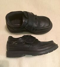 Boys Sperry Black Leather Shoes Sz 9.5M
