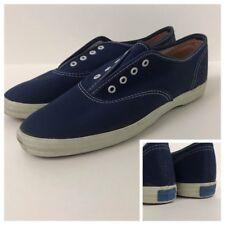 90fc6d581a6 1980s Keds Tennis Shoes   Unworn Navy Blue Cotton Canvas Lace Up Oxford   6