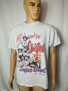 Vintage John Elway Denver Broncos Graphic Shirt 90s All I Want For Christmas VTG