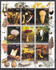 Mali, 1998 Cinderella issue. Mushrooms sheet of 9. *