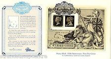 1990 Penny Black M/S - Covercraft Jacob Perkin Official