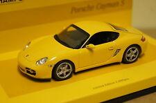 Porsche Cayman S (987) 2005 amarillo 1:43 Minichamps nuevo & OVP 436065620