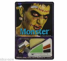 Frankenstein 4 colour blendable Monster Makeup Kit with Bolts Fancy Dress MAKEUP