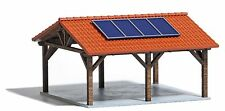Busch 1571 HO (1/87e): Solarcarport, Carport met zonnepanelen