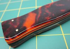 Ultra Rare OLCUT Union Cutlery Olean NY FAUX Tortoise Shell Hunting Knife