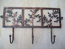 Antique Bronze Shabby Chic Décorative Déguisement Feuille Design Crochets Métal