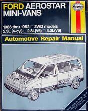 HAYNES FORD AEROSTAR MINI-VANS 1986 thru 1992 2WD models REPAIR MANUAL - BOOK