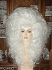 SIN CITY WIGS WHITE HOT WIG! BIG HAIR 4 A QUEEN TEASED CURLS SO FLUFFY VOLUME