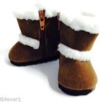 Brown Shearling Boot Shoes fits 18 inch American Girl Doll Clothes