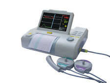 7'' touch screen Fetal Monitor three parameters FHR TOCO Fetal Movement CE